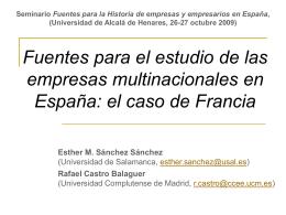 Fuentes para el estudio de las empresas multinacionales …