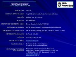 HTAL. ZONAL GENERAL DE AGUDOS PETRONA V, DE …