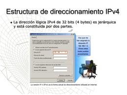 Estructura de direccionamiento IPv4