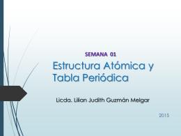 ESTRUCTURA ATOMICA Y TABLA PERIODICA