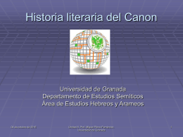 Historia literaria del Canon