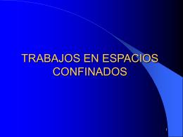 TRABAJOS EN ESPACIOS CONFINADOS