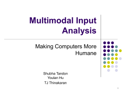 Multimodal Interfaces and Cognitive Science