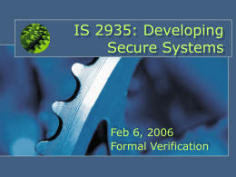 IS 2935: Developing Secure Systems
