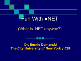 NET What Is It And What Does It Mean To Enterprise …