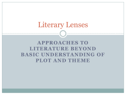 Literary Lenses - Grapevine Middle School