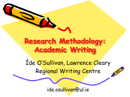 Academic Writing - University of Limerick