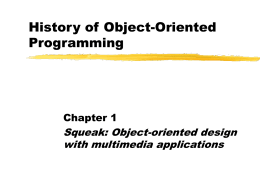 History of Object-Oriented Programming