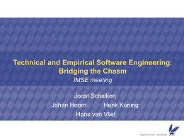 Technical and Emperical Software Engineering: Bridging …
