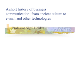A short history of business communication: from ancient