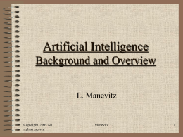 Artificial Intelligence Background and Overview