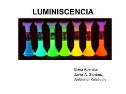 LUMINISCENCIA - Universidad de Alicante
