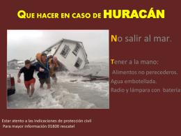 QUE HACER EN CASO DE HURACAN