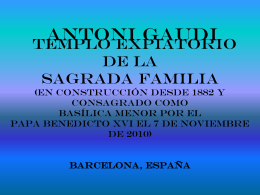 GAUDI.SAGRADA FAMILIA
