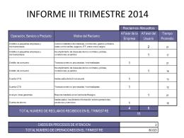 INFORME III TRIMESTRE 2014