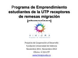 Programa de Emprendimiento hijos/estudiantes utp