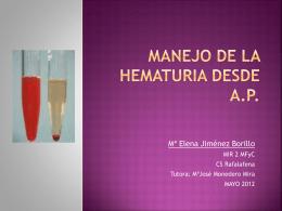 Manejo de la hematuria desde A.P.