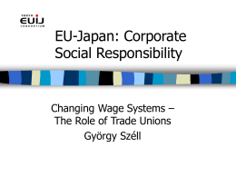 EU-Japan: Corporate Social Responsibility