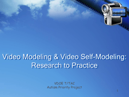 Video Modeling and Video Self