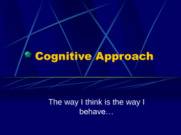 Cognitive Approach - Southwest High School