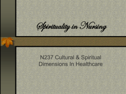 Spirituality in Nursing