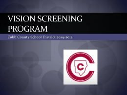 Vision Screening Program - Cobb County School District