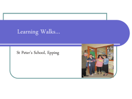 Learning Walks…