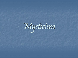Mysticism - University of Houston