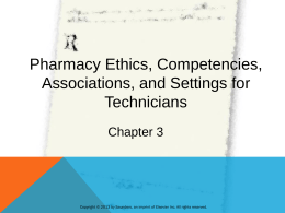 Chapter 2 Law and Ethics of Pharmacy Teresa Hopper