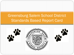 Greensburg Salem School District Standards Based Report …