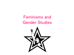 Feminisms and Gender Studies