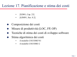 Software cost estimation - ISTI-CNR