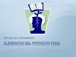 Elementos del proyecto final