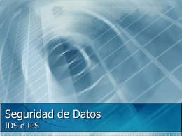 Seguridad de Datos