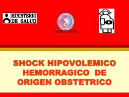 SHOCK HIPOVOLEMICO HEMORRAGICO DE ORIGEN …