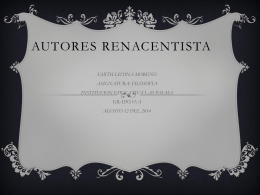 AUTORES RENACENTISTA