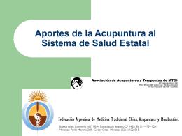 Aportes de la Acupuntura al Sistema de Salud Provincial