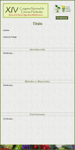 Diapositiva 1 - XIV Congreso Nacional de Ciencias Horticolas