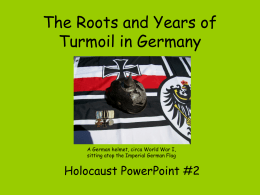 The Roots & Years of Turmoil in Germany