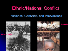 Ethnic/National Conflict - University of Texas at El Paso