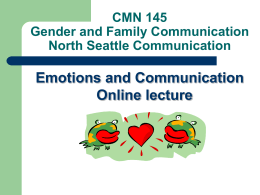 CMN 145 Gender and Family Communication North …