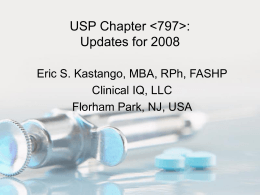 Introduction to USP 797
