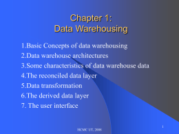 Data Warehouse - University of Technology