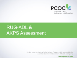 RUG-ADL & AKPS Assessment - University of Wollongong