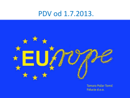 PDV od 1.7.2013. - Fiducia on