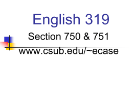 Language - California State University, Bakersfield
