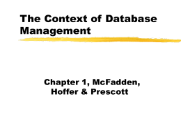 Basics of data management - The University of Oklahoma