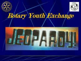 PRETRIP JEOPARDY! - North American Youth Exchange …