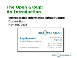 The Open Group Corporate Overview