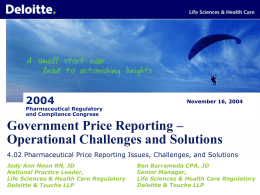 Deloitte Consulting & Life Sciences Practice Overview